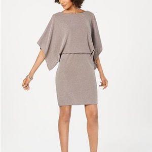 NWOT Metallic Shimmer Blouson Dress